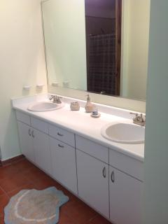 His/Hers sinks in master bath
