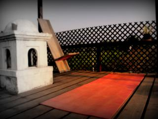 Our rooftop terrace - for some yoga - sipping your morning coffee - or just soaking up sun & view!