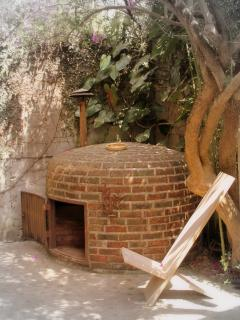 Outside view of Traditional Mayan Sauna (Temascal)