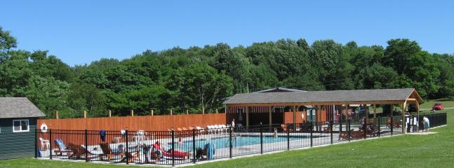Beaver Valley: heated pool and kiddie wading pool.  1 mile down road.