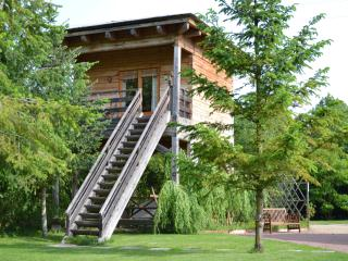 timber chalet on stilts, Brion