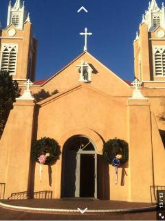 Historic San Felipe de Neri Church in Old Town. A 5 minute walk away from the casita.