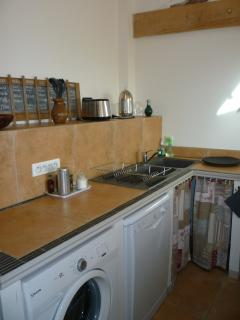 Another behind the scenes in the open-plan kitchen