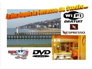 STUDIO VUE MER A DEAUVILLE Wifi Parking situé à 500m du centre, 900m de la gare