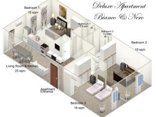 3D Floor Plan - colors and furnitures vary in real life objects