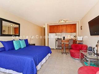 Studio with AC, WiFi, roof-top pool, Jacuzzi, parking. Close to beach., Honolulu