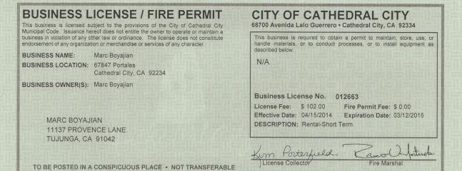 Condo Business License and Permit
