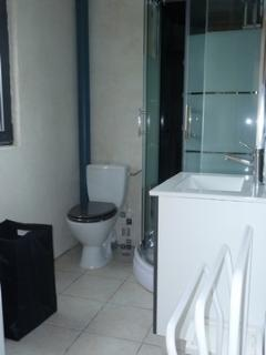 salle de bains avec douche à jets