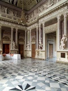 Il salone delle feste, interno al Castello.