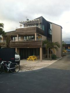 This is The Loft on Mount Maunganui Beach The Loft is on Level 3 which is accessed by a Lift