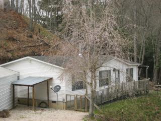 Vacation rental in spring. It is a 2 bedroom, 2 bath, 1000 square feet single-family home.