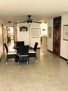 Dining area with complete kitchen
