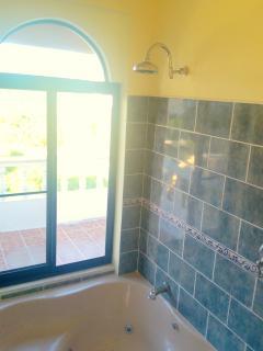 Massive third-floor jacuzzi style bath