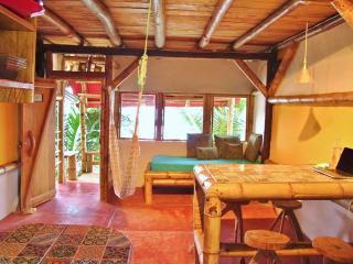 2-story Bamboo Beachfront Bungalow, Mompiche