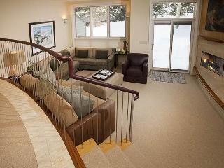 Enjoy an easy walk to the Chair Lift #20 from this gorgeous vacation condo in Vail along Gore Creek.