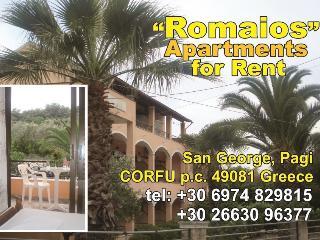 romaios apartmens, Agios Georgios