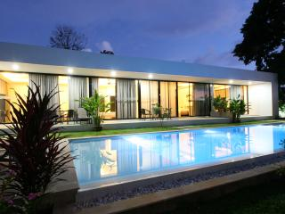 Add in some quiet music and you will be able to spend the evening relaxing by the night pool.