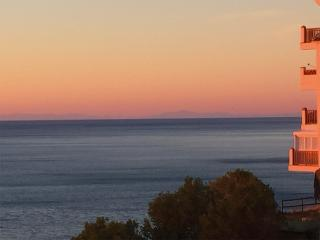 At dawn in clear weather, you can see Africa from balcony and terrass, although 140 km distant!