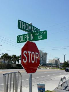 Public boat ramp on Dolphin Drive to load a boat into the water