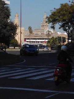 La Giralda y la Torre del Oro, centro histórico a 5 minutos paseando desde el apartamento.