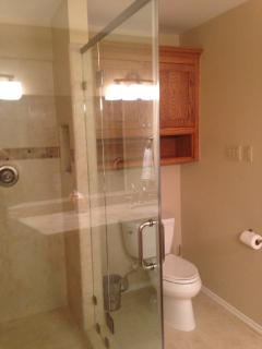 Newly-remodeled master bath