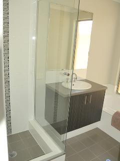 Separate bath and shower room