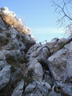 One of the many climbing routes