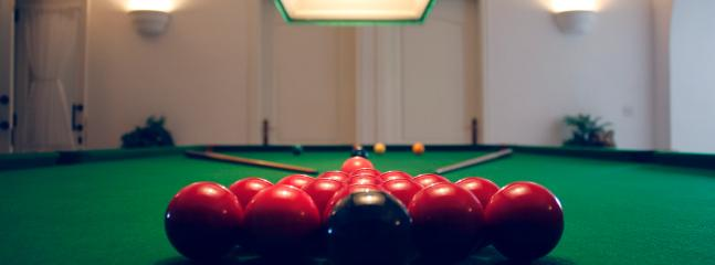 Professional Snooker table (Payable extra with Deposit)