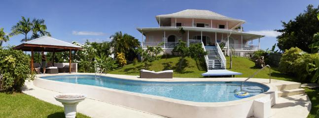 View from Pool to Villa