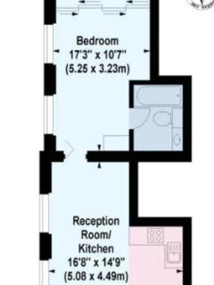 Extra large one bed floor plan