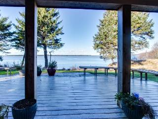 Bayfront, dog-friendly beach home with amazing views, sauna, & Jacuzzi, Netarts