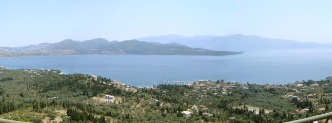 Panoramic views from the villa