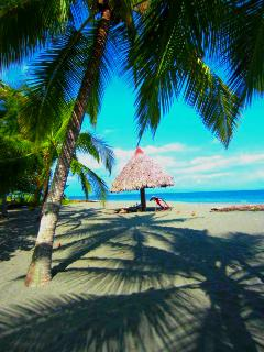 Lay in the shade as you relax in paradise