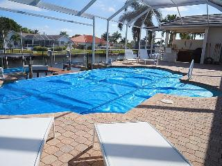 Villa Central - A Luxury Cape Coral 3b/3ba home w/electric heated pool/spa, gulf access canal, HSW Internet, Boat Dock, 2 Boat Lifts ( 20,000 lb and 4,000 lb )