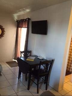 dining table & 32' TV & DVD