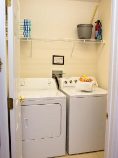 On site full size washer and dryer facilities