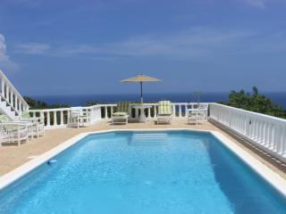 The villa pool is 14x32 pool and perfect for cooling off and relaxing!