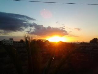 coucher soleil vue de la terrasse