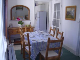 The separate dining area