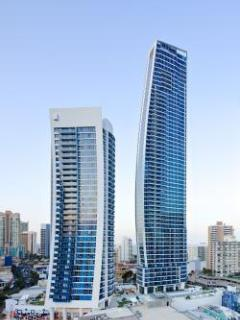 This luxury apartment is located in the Orchid tower on right with south-east view of Cavill Avenue.