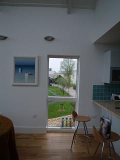 lounge window over stream