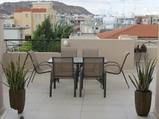 2 bedroom penthouse with large patio and balcony, Oroklini