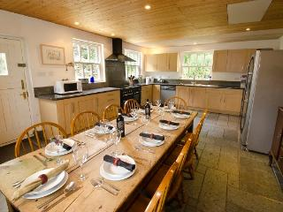 Large kitchen diner with american style fridge freezer