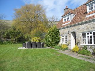 Rural detached cottage on dairy farm near Swanage