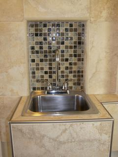 Newly added kitchenette sink in 22A