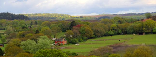 Fir Tree Riding School viewed from the village