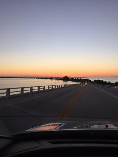 Driving over the causeway to Sanibel