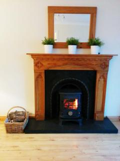 The welcoming stove - a firm favourite for those who stay during winter months.