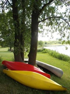 Kayaks and canoe