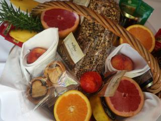 Our beautiful complimentary breakfast hamper for your first morning